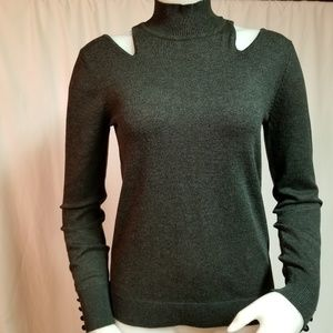 Cable & Gauge Grey Sweater Size Small Petite